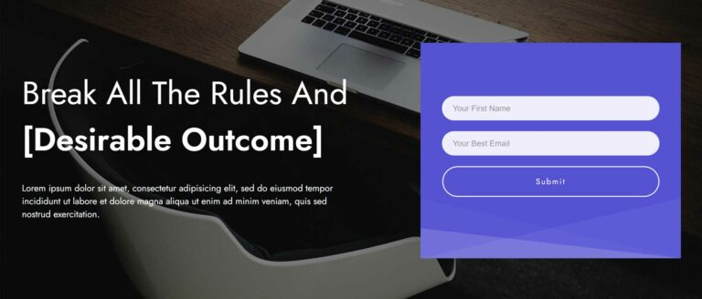 Opt-in form template example