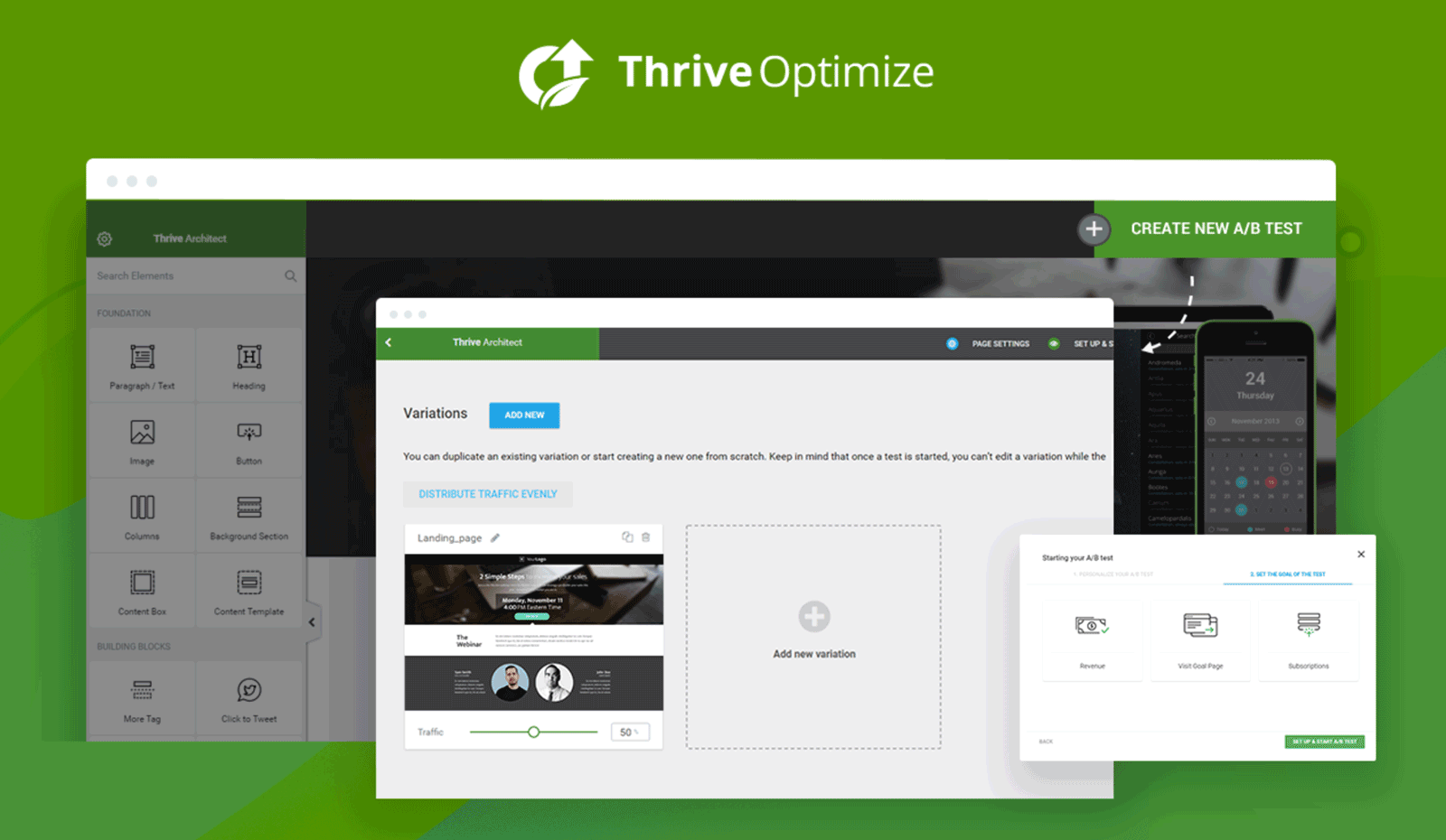 Thrive Optimize User Interface