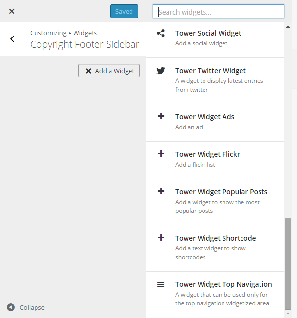 Tower Review Widgets