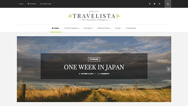 Travelista-theme