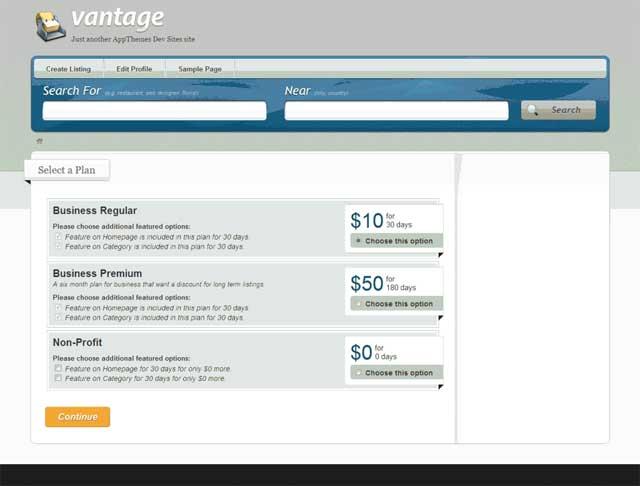 Vantage Pricing Plans