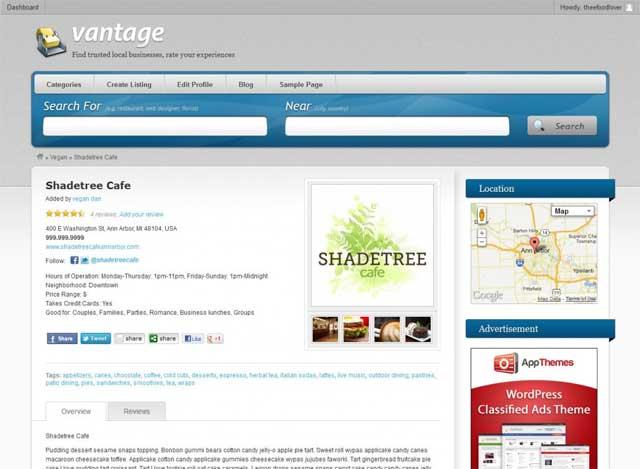 Vantage Single Listings Page