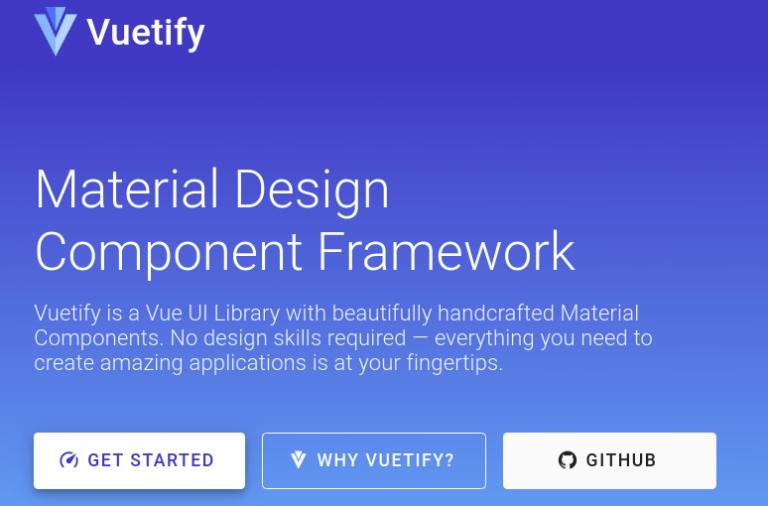 Vuetify framework