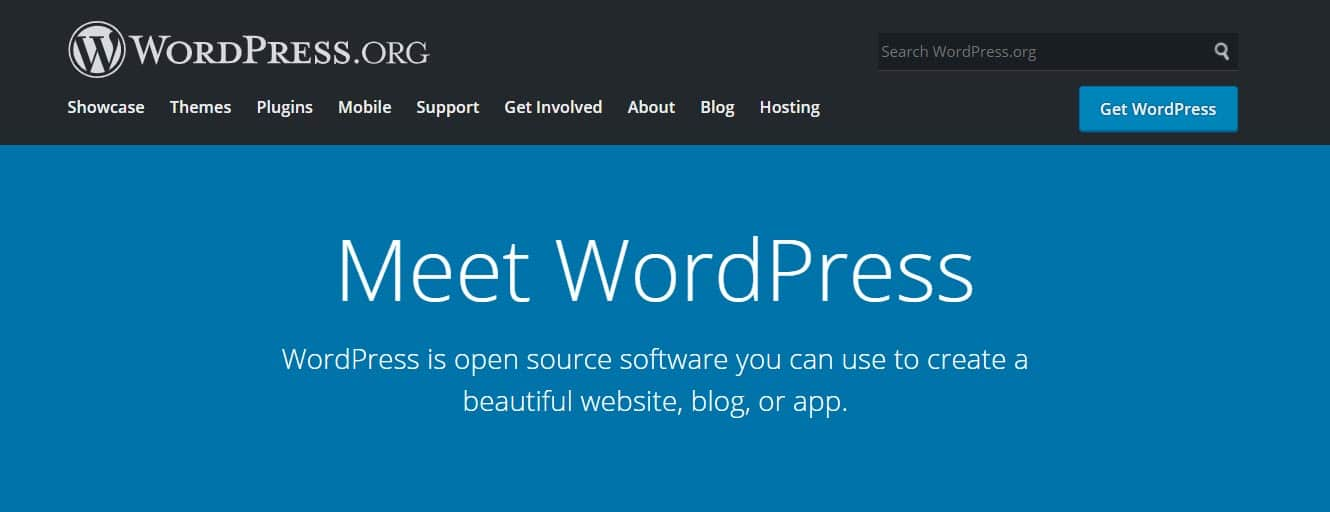 WordPress.org Start a Blog