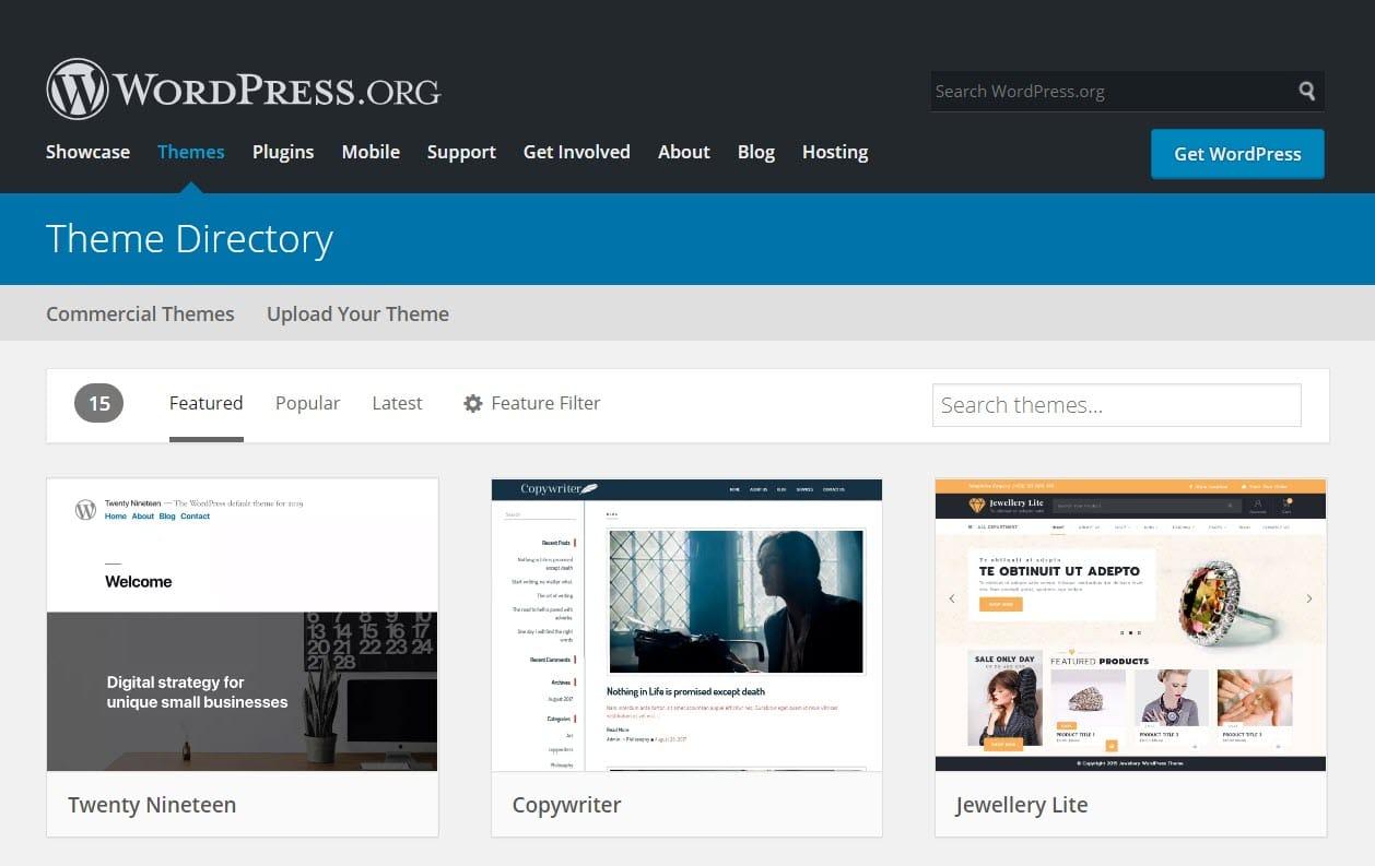WordPress.org theme directory