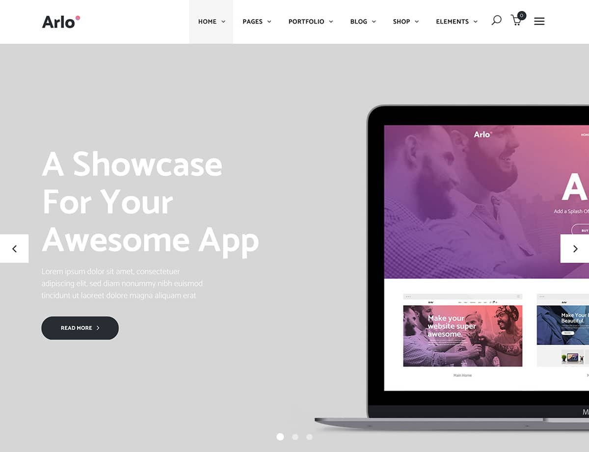 arlo-app-showcase-theme
