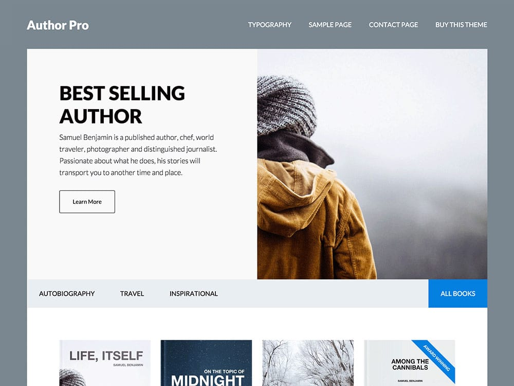 free wordpress themes for book authors