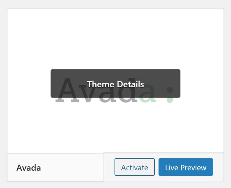 Activate Avada