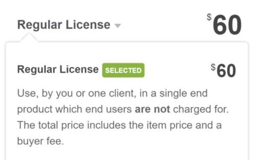 Avada Regular License