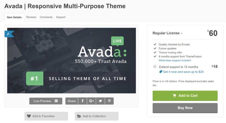 Avada Sales Page