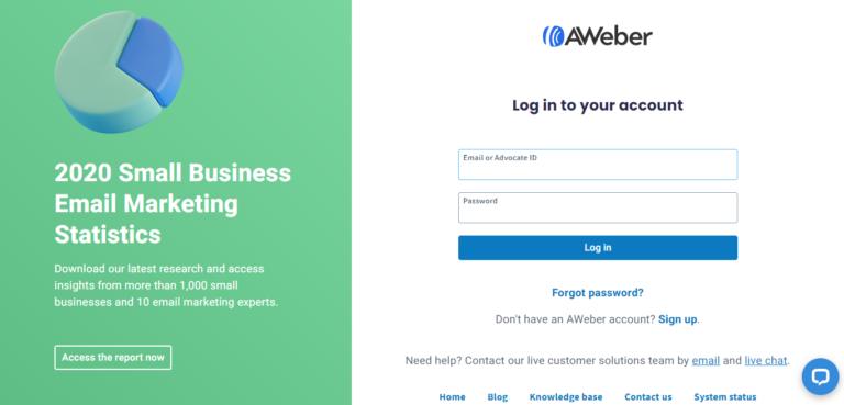 AWeber signup process
