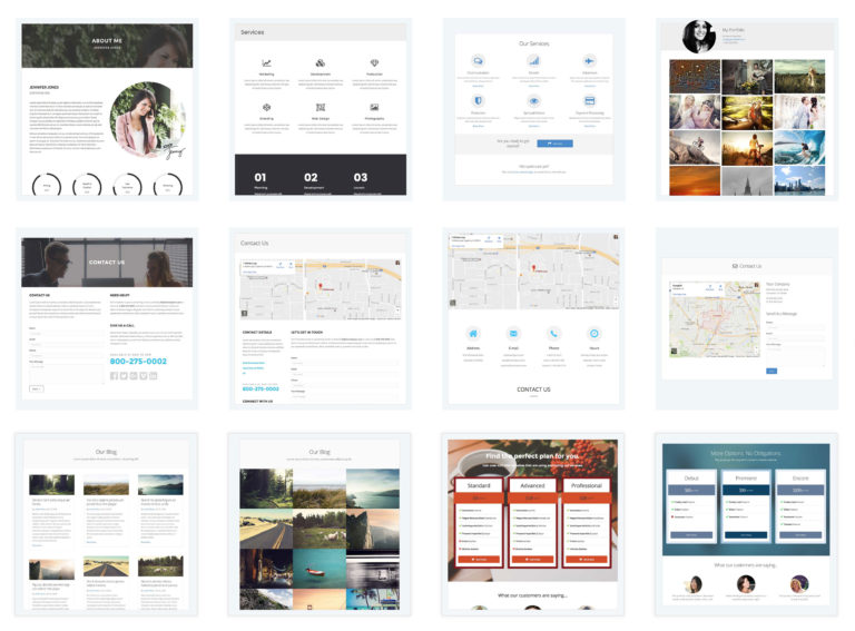 Content Page Templates