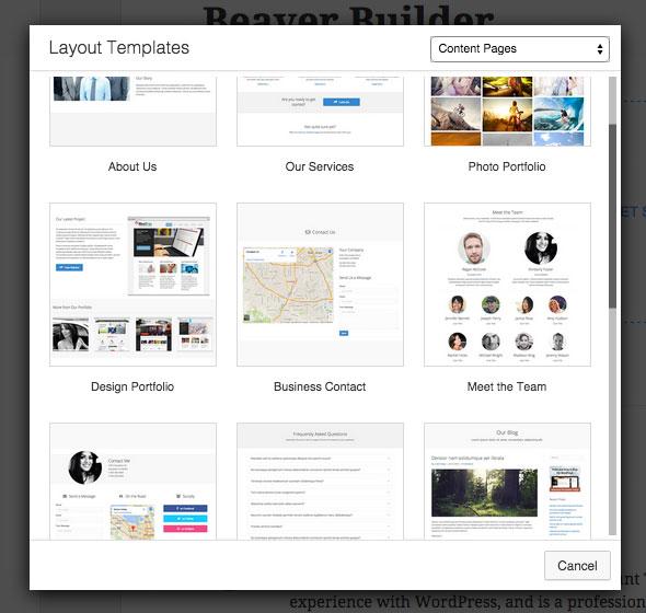 Beaver Builder Content Templates