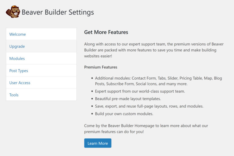 Upgrading Beaver Builder Lite