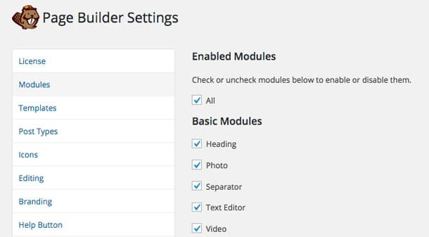 Beaver Builder Module Settings