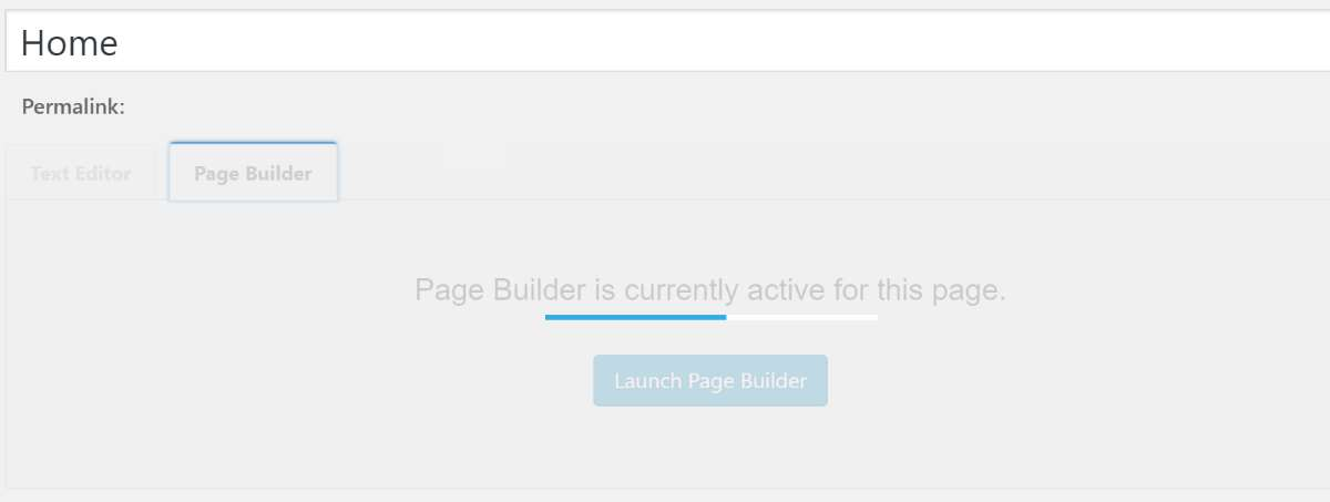 Beaver Builder Loading Message