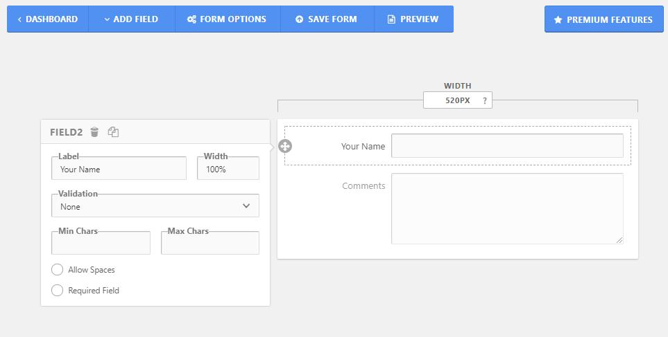 FormCraft interface