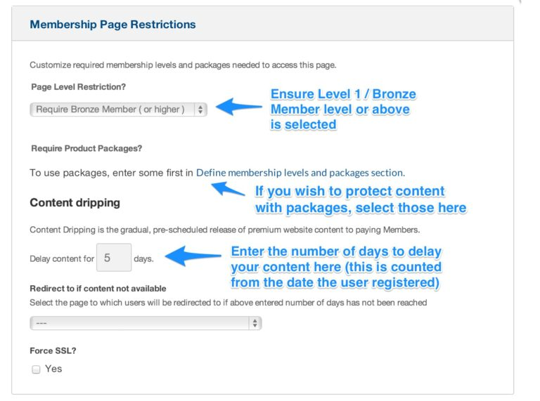 OptimizePress restrict