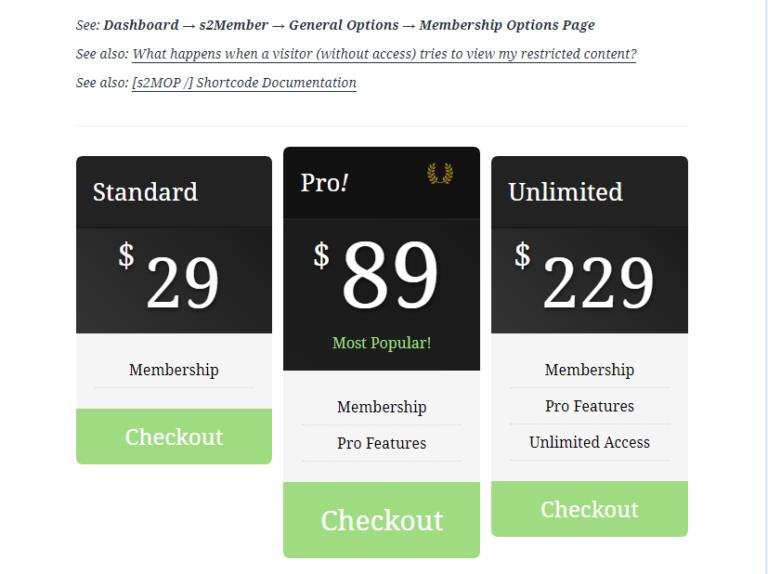 S2 Member Pricing