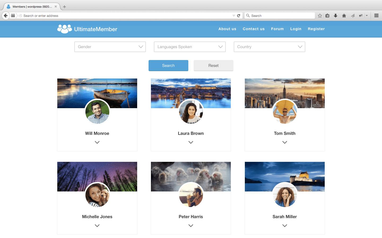 Ultimate Member directory