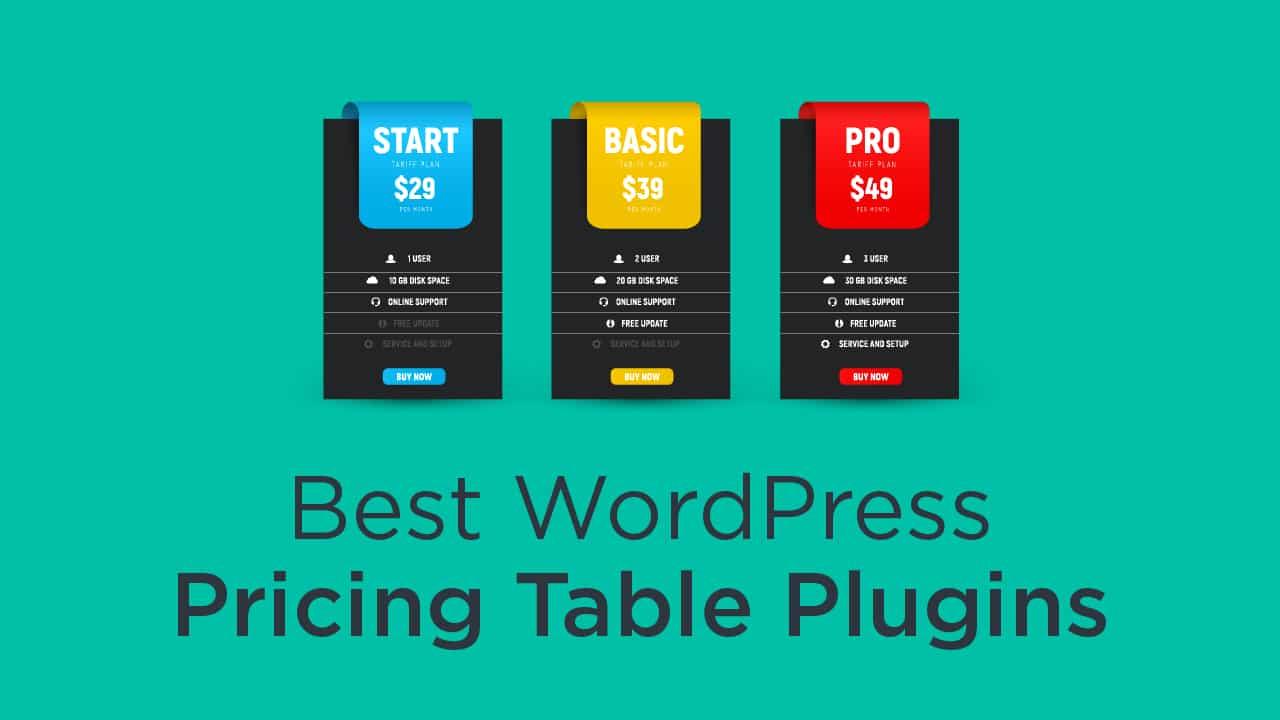 8 Best WordPress Pricing Table Plugins 2021 - aThemes