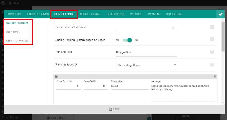 eform advanced features