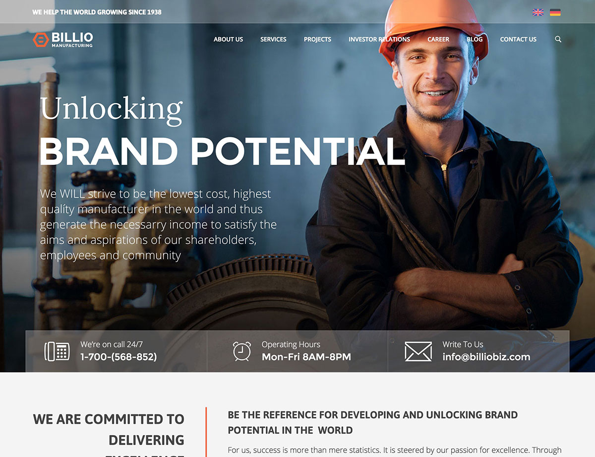 billio-manufacturing-wordpress-theme
