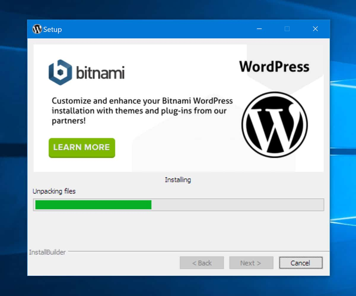 Installing WordPress on your Windows PC