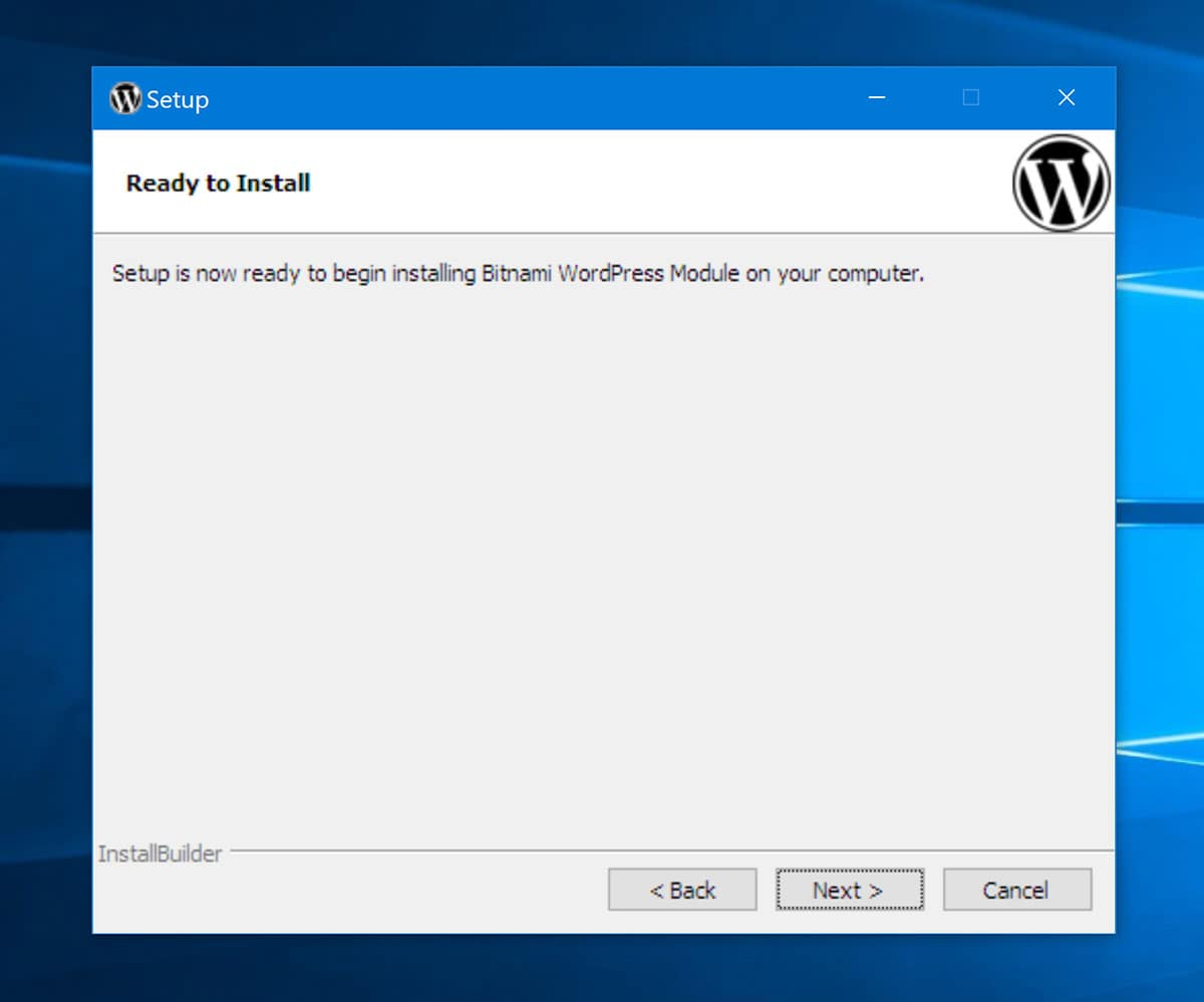 Click to Install WordPress