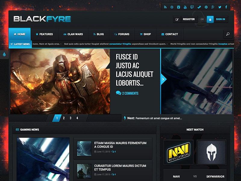 blackfyre-gaming-community-theme