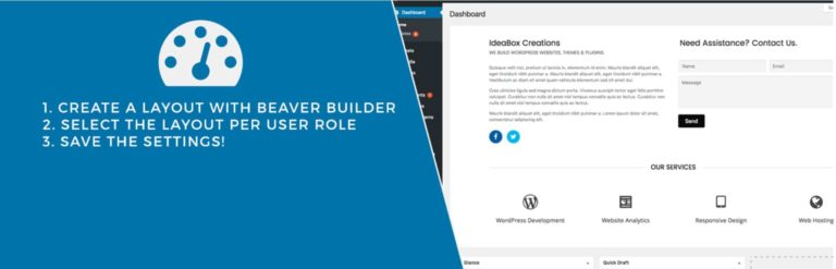 Beaver Builder dashboard welcome