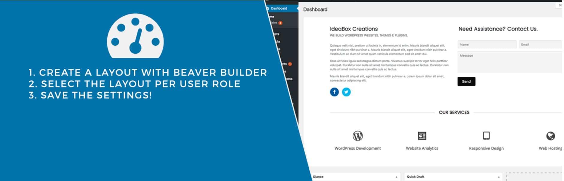 Beaver Builder dashboard welcome