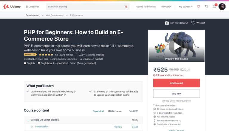 Build an Ecommerce Store with PHP