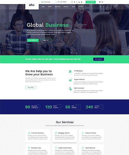 Business template demo