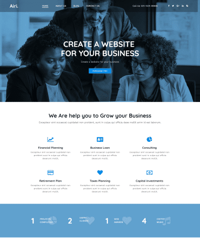 Business 2 template demo