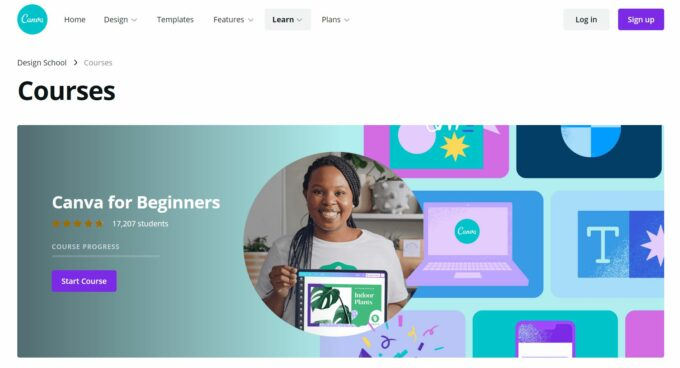 Canva learning materials