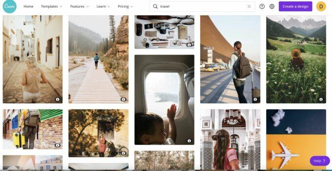Canva travel photos