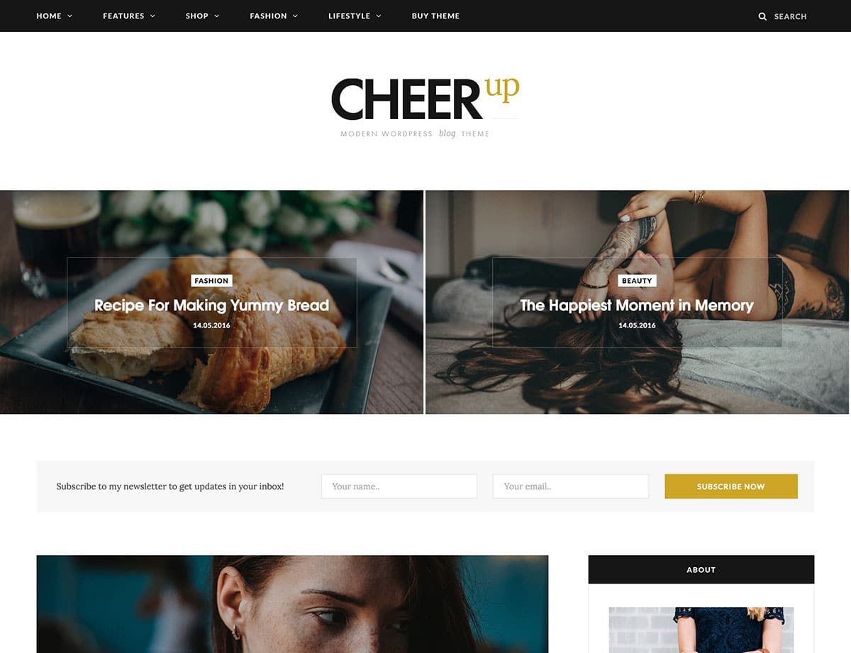 theme de blog - cheerup