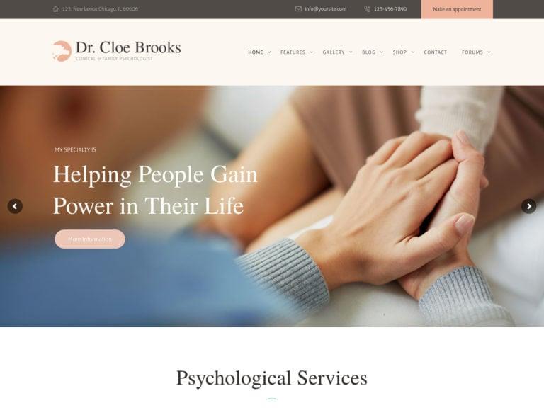 Cloe Brooks WordPress theme
