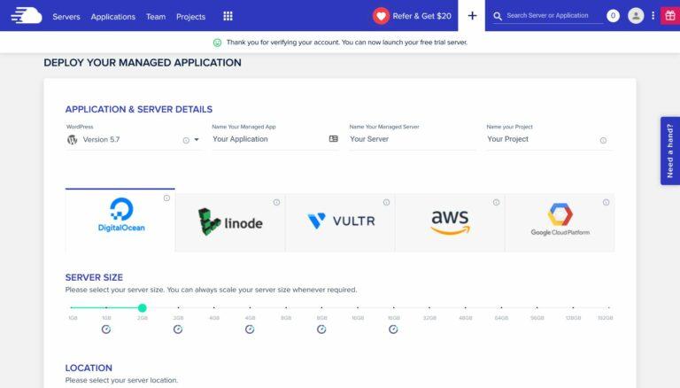 Cloudways application details