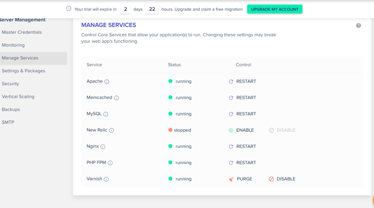 Cloudways managed services