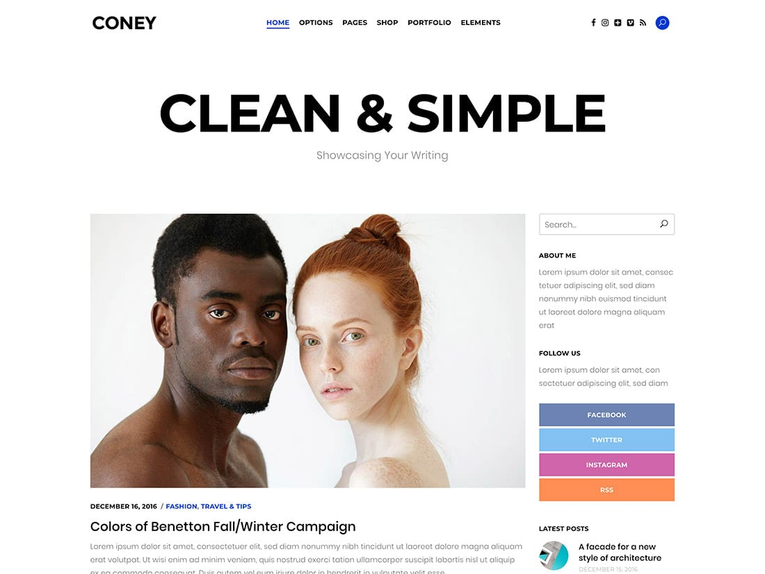Coney- theme de blog wordpress