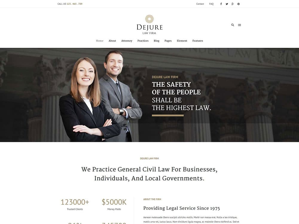 dejure-law-firm-theme