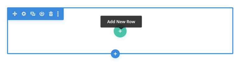 Add New Row in Divi Builder