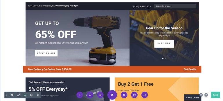 Hardware Shop Layout