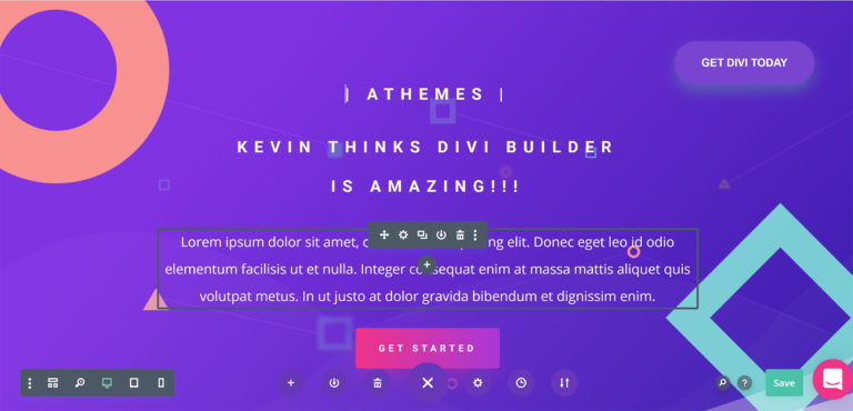 An Example of Divi Builder
