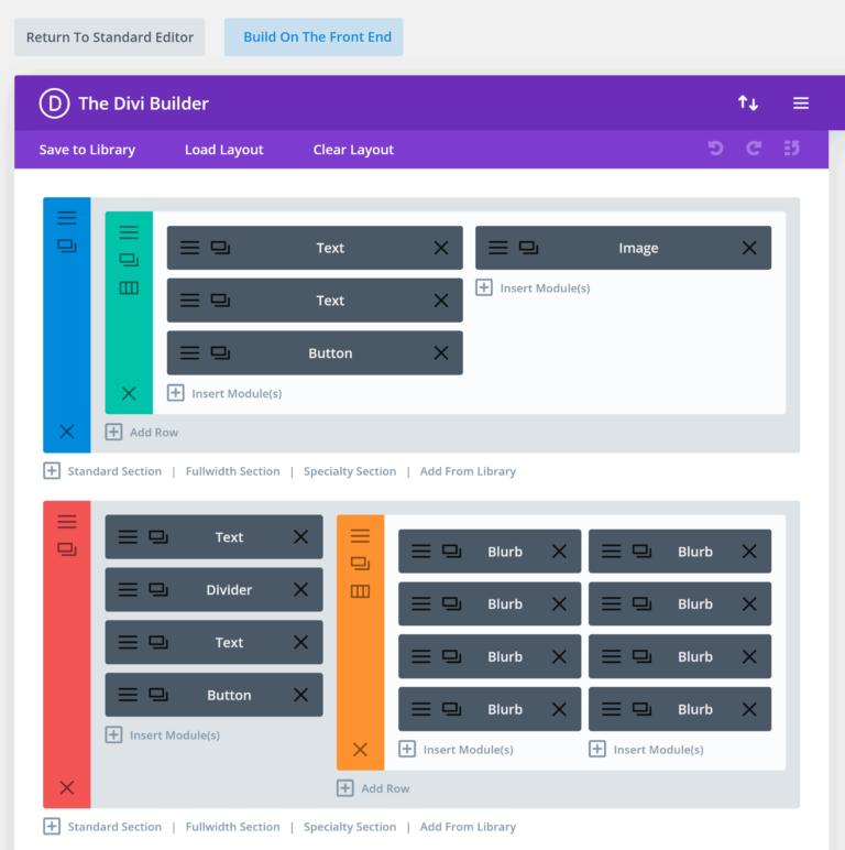Divi Builder Legacy Builder Interface