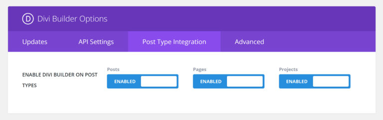 Post Type Integration Options