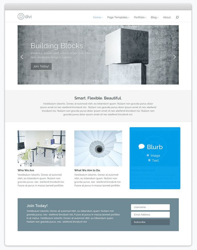 An Example of Divi
