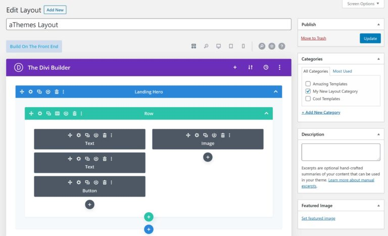 Edit Divi Library Layout